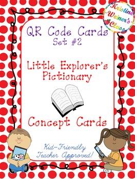 QR Code Concept Cards--Little Exporer's Pictionary