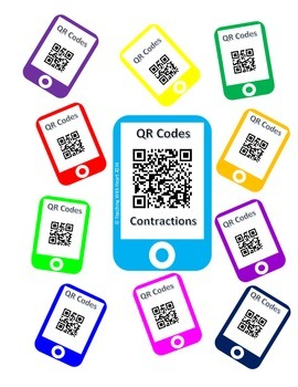 QR Code Contractions Task Cards
