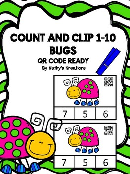 QR Code Count And Clip 1-10  Bugs  -Dollar Deal