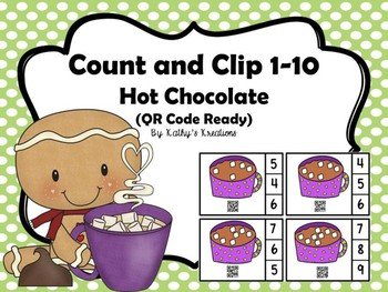 QR Code Count And Clip 1-10 Hot Chocolate -Dollar Deal