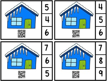 QR Code Count And Clip 1-10 Icicles -Dollar Deal