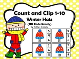 QR Code Count And Clip 1-10 Winter Hats -Dollar Deal