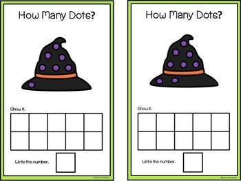 QR Code Count And Clip 1-10 Witch Hats & Ten Frame Mats