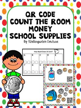 QR Code Count The Room Money -School Supplies