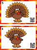 QR Code Count, Write, Scan 1-20 Turkey Feathers
