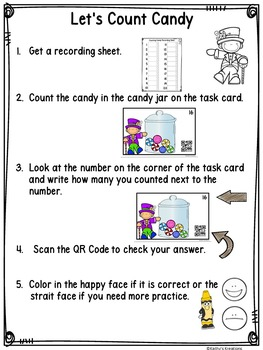 QR Code Count, Write & Scan Candy