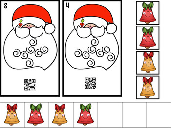 QR Code Count, Write, Scan Santa 1-20