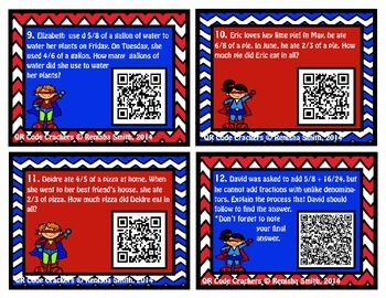 QR Code Cracker: Adding Fractions with Unlike Denominators