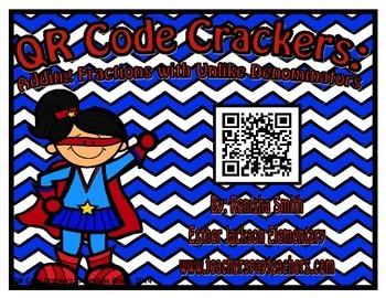 QR Code Cracker: Adding Fractions with Unlike Denominators