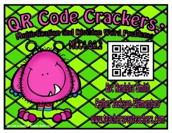 FREEBIE: QR Code Crackers: Multiplication and Division Word Problems
