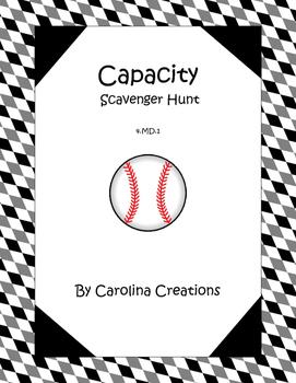 QR Code Customary Capacity Scavenger Hunt - Fourth Grade 4.MD.1