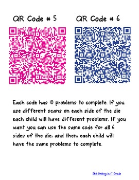 QR Code Dice Game | Concept Simple Addition