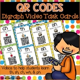 QR Code Digraph Videos Task Cards