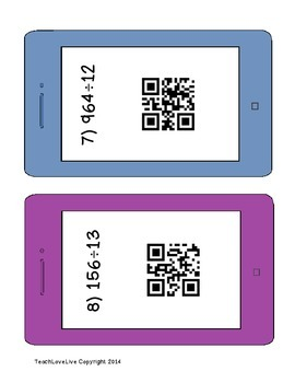 QR Code Division 2 digit divisors