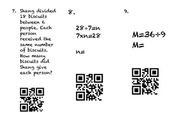 QR Code Division Review Scoot