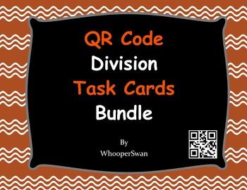 QR Code Division Task Cards Bundle