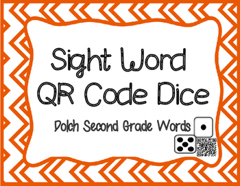 QR Code Dolch Second Grade Sight Word Dice