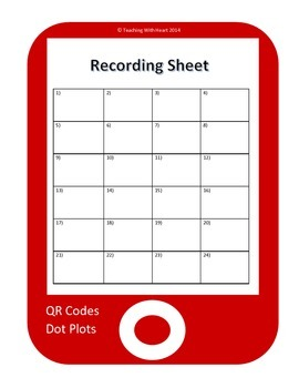 QR Code Dot Plot Task Cards