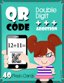 QR Code Double Digit - Addition - Flash Cards