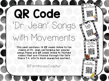 QR Code 'Dr. Jean' Songs with Movements