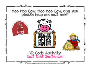 QR Code ~ Edit That Sentence!