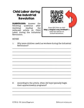 QR Code Enabled Webquest - Child Labor