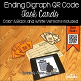 QR Code Ending Digraph Words Activity