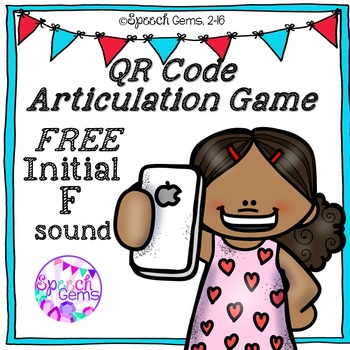 QR Code Articulation Game FREE Initial F sound