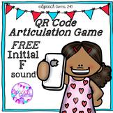 Articulation Game Initial F sound QR Code FREEBIE