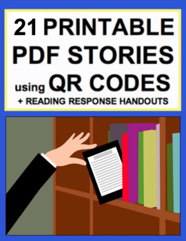 QR Code Fiction Printable Books + Reading Literature Handouts for EVERY K-3 CCSS