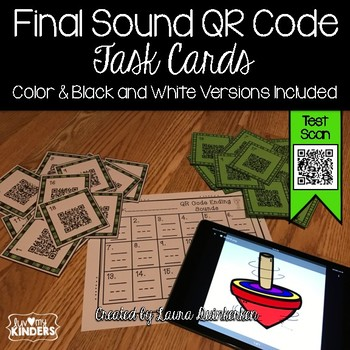 QR Code Final Sound Task Cards