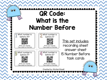 QR Code: Finding the number before