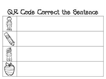 QR Code Fix Your Sentence