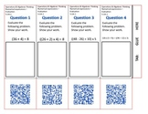 QR Code Foldable-Grade 5 Math Operations & Algebraic Thinking-FREE!