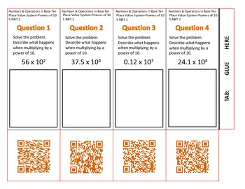 QR Code Foldable-Grade 5 Numbers and Operations in Base Ten-Set 1