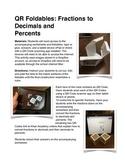 QR Code Foldables: Converting Fractions to Decimals and Percents