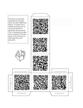 QR Code Foldables: Converting Fractions to Decimals and Percents