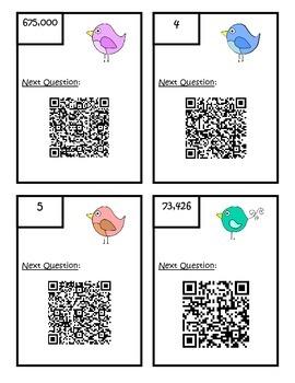QR Code Fourth Grade Common Core Math Review Scavenger Hunt 1