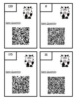 QR Code Fourth Grade Math Common Core Review Scavenger Hunt 2