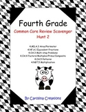 QR Code Fourth Grade Math Common Core Review Scavenger Hunt 2