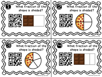QR Code Fraction Identification Task Cards