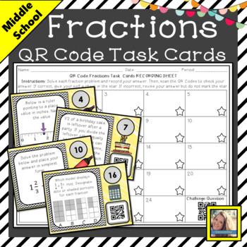 QR Code Fraction Task Cards
