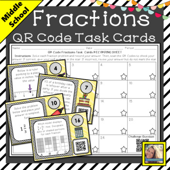 QR Code Fraction Task Cards