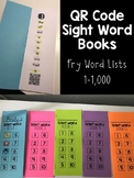 QR Code Sight Word Books Bundle
