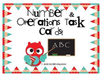 QR Code Fun: 2nd Grade Owls Number & Operations Task Cards - 2.NBT.6 and 2.NBT.7