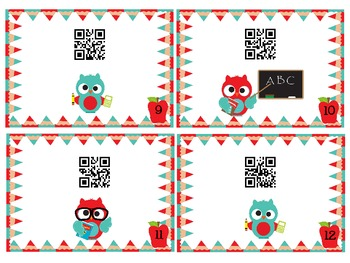 QR Code Fun: 2nd Grade Owls Number & Operations Task Cards - 2.NBT.6 and 2.NBT.7