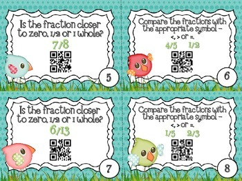 QR Code Fun: Comparing Fractions & Benchmark Numbers