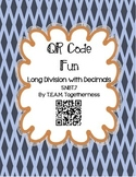 QR Code Fun: Long Division With Decimals