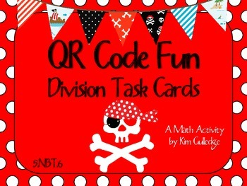 QR Code Fun: Pirates Long Division Task Cards (without remainders) - 5.NBT.6