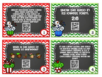 QR Code Fun: Ratios and Proportions Word Problems Task Cards